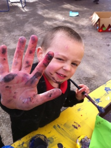 High Five Finger painting