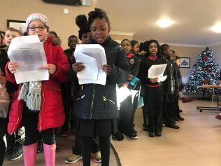 Y4 singing at Gorton Parks 1