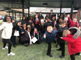 Y4 singing at Gorton Parks 2
